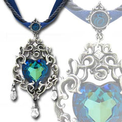 Alchemy Empress Eugenies Blue Heart Diamond Pendant