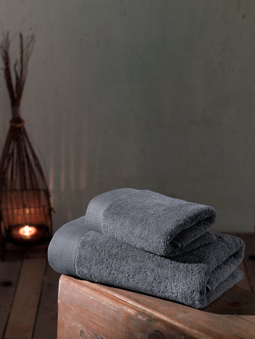 Hand Towel, Bath Towel, Cotton Towel, Grey