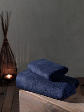 Load image into Gallery viewer, Navy Towel, Cotton Towel, Bath Towel, Hand Towel