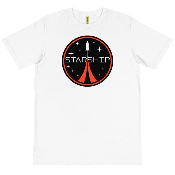 Starship Patch Design - Organic T-Shirt