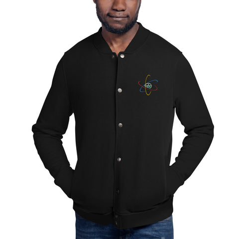 Now You Know Brain Logo - Embroidered Champion Bomber Jacket