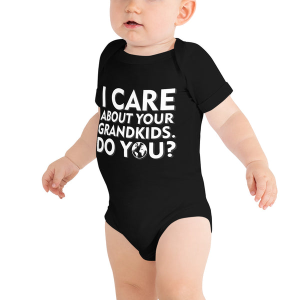 I care about your grandkids how about you? - Onesie