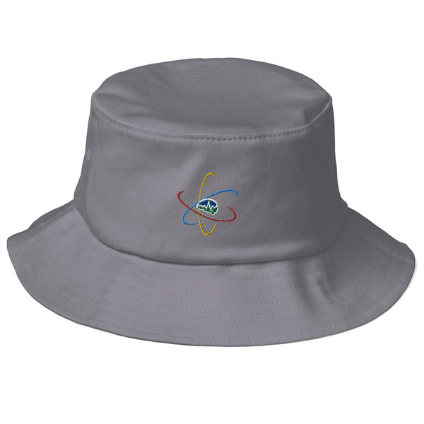 Now You Know Brain Logo - Old School Bucket Hat