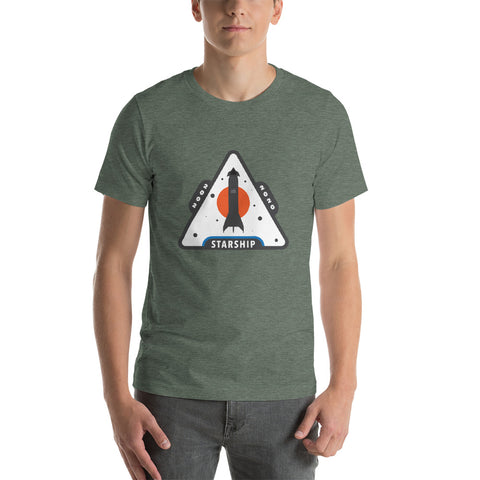 Starship Patch Design 2 - Short-Sleeve Unisex T-Shirt