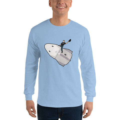 Elon Riding Dragon Capsule - Men's Long Sleeve Shirt
