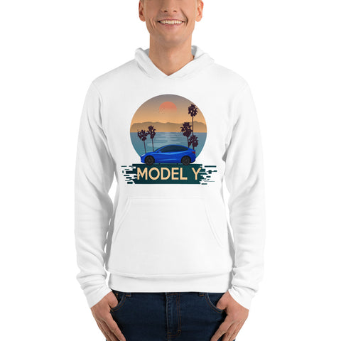 Blue Model Y California Drive - Unisex hoodie
