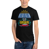 My Car Runs on Sunshine - Sustainable T-Shirt
