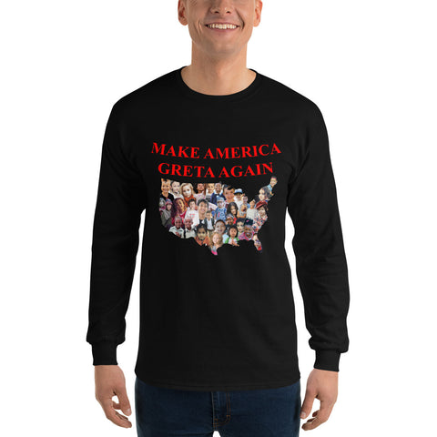 Make America Greta Again - America With Kids - Men's Long Sleeve Shirt