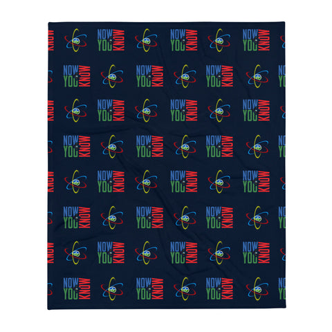 Now You Know Brain Logo - Throw Blanket