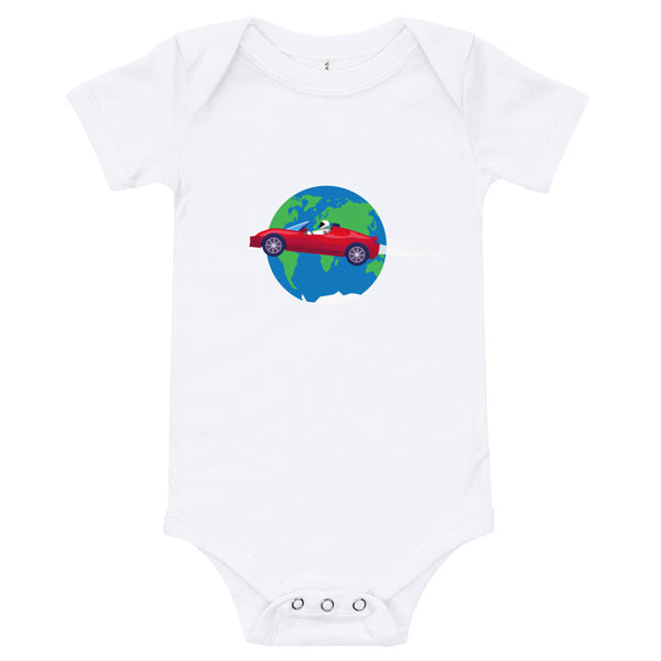 Starman Circles The Earth - Baby Onesie