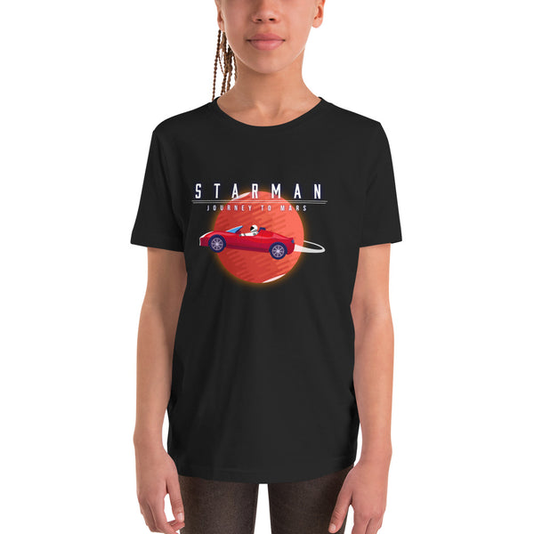 Starman - Journey to Mars - Youth Short Sleeve T-Shirt