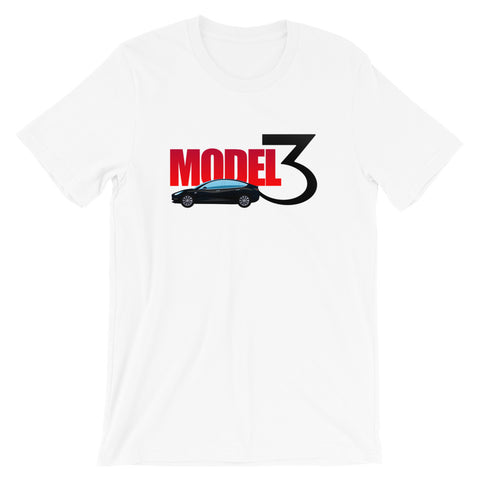 Black Model 3 - Short-Sleeve Unisex T-Shirt
