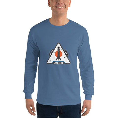 Starship Patch Design 2 - Men's Long Sleeve Shirt