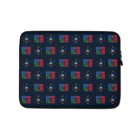 Now You Know Brain Logo - Laptop Sleeve