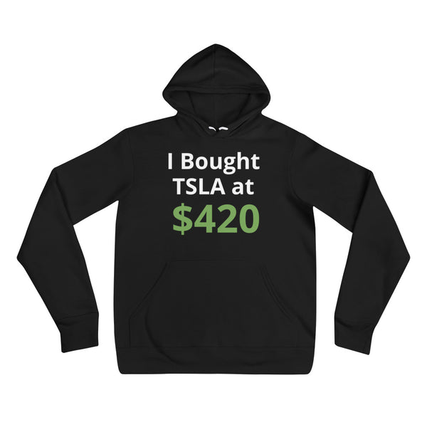 I BOUGHT TSLA AT [CUSTOM TSLA PRICE] - SHORT-SLEEVE Unisex hoodie