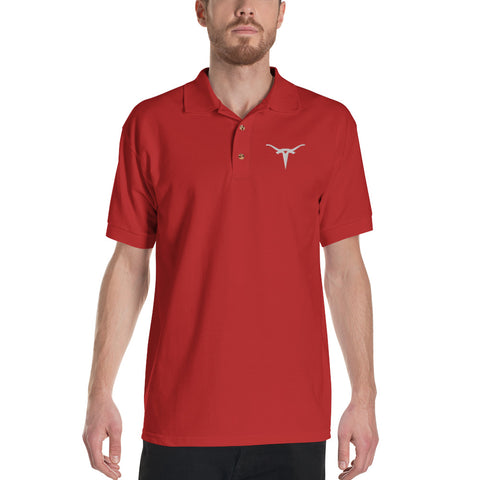 Bull Horns - Embroidered Polo Shirt