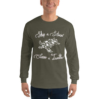 Skip a Straw Save a Turtle (color) - Long Sleeve T-Shirt