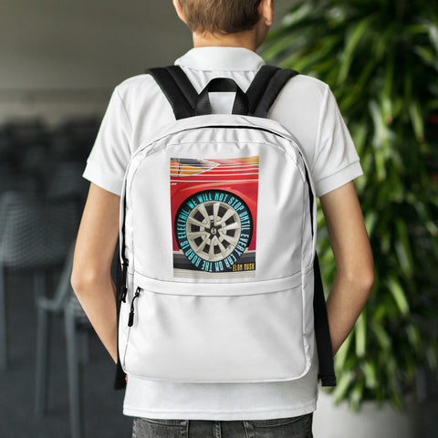We will not stop until every car on the road is electric - Backpack