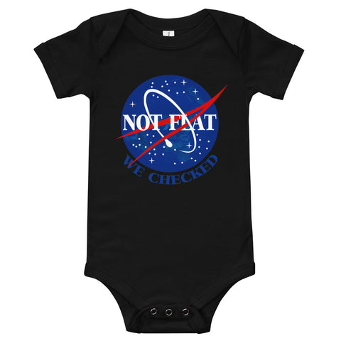 Not Flat, We Checked - Onesie