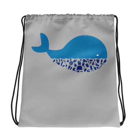 Plastic Diet - Whale - Drawstring bag
