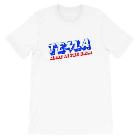TSLA made in U.S.A. - Short-Sleeve Unisex T-Shirt