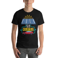 My Car Runs on Sunshine - Short-Sleeve Unisex T-Shirt