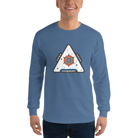 Superheavy Patch Design - Men's Long Sleeve Shirt