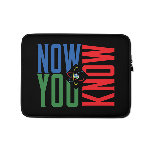 Now You Know Logo - Laptop Sleeve