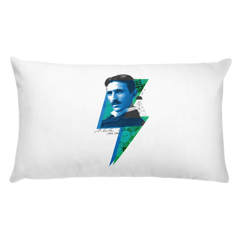 Nikola TEϟLA Pop Art Design - Basic Pillow
