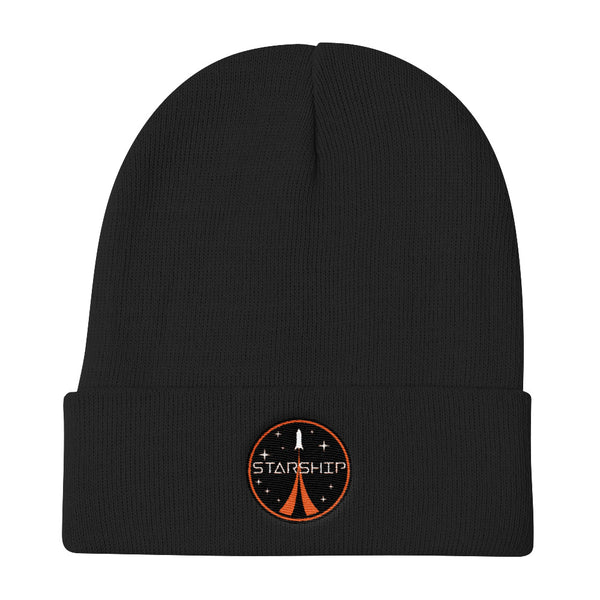 Starship Patch Design - Knit Beanie