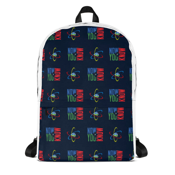 Now You Know Brain Logo - Backpack