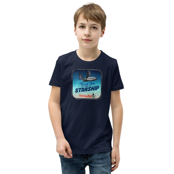 Thank You For Flying Starship - Youth Short Sleeve T-Shirt