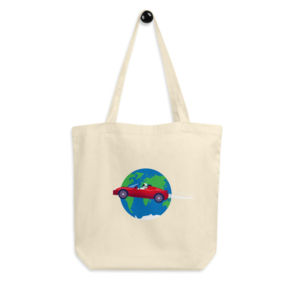 Starman Circles The Earth - Eco Tote Bag