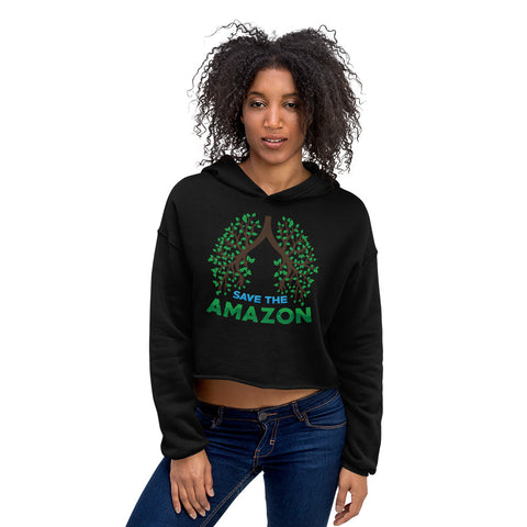 Amazon Tree Lungs - Crop Hoodie