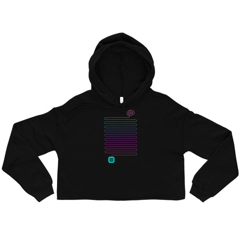 Neuro-Link Brain to Chip - Crop Hoodie