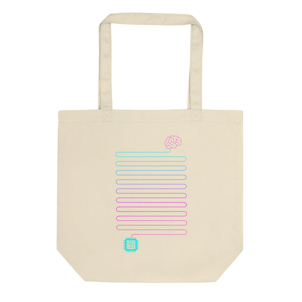 Neuro-Link Brain to Chip - Eco Tote Bag