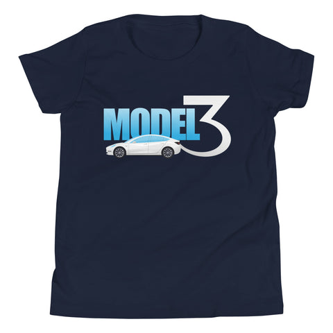 White Model 3 - Youth Short Sleeve T-Shirt