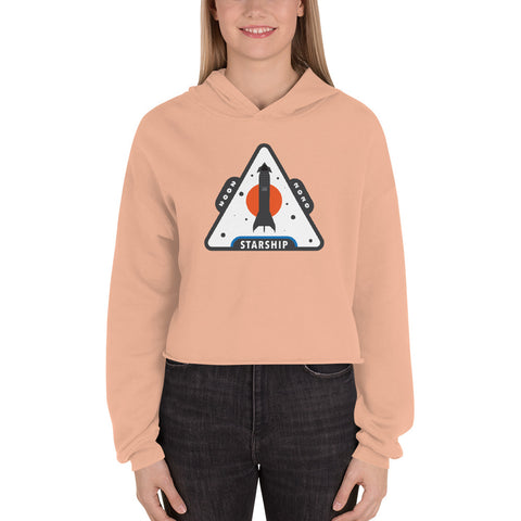 Starship Patch Design 2 - Crop Hoodie