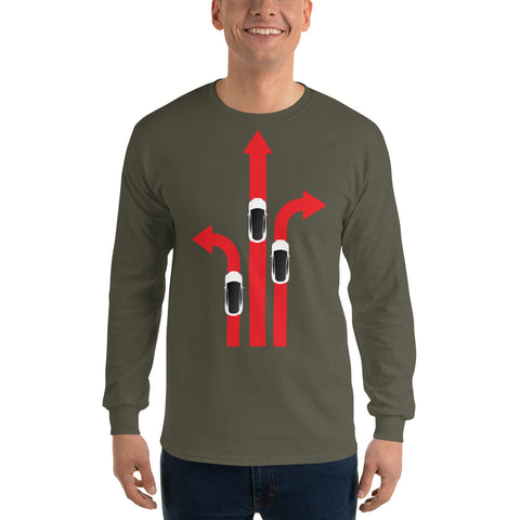 Tesla Arrows - Long Sleeve T-Shirt