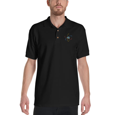 Now You Know Brain Logo - Embroidered Polo Shirt