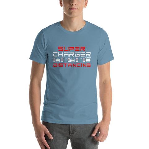 Supercharger Distancing - Short-Sleeve Unisex T-Shirt