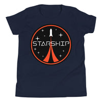 Starship Patch Design - Youth Short Sleeve T-Shirt