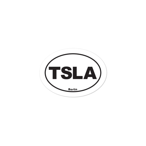 TSLA Berlin - Bubble-free stickers