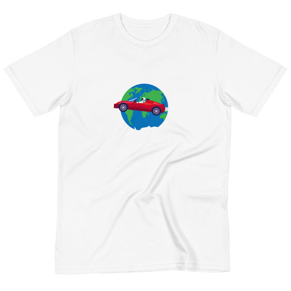 Starman Circles the Earth - Organic T-Shirt