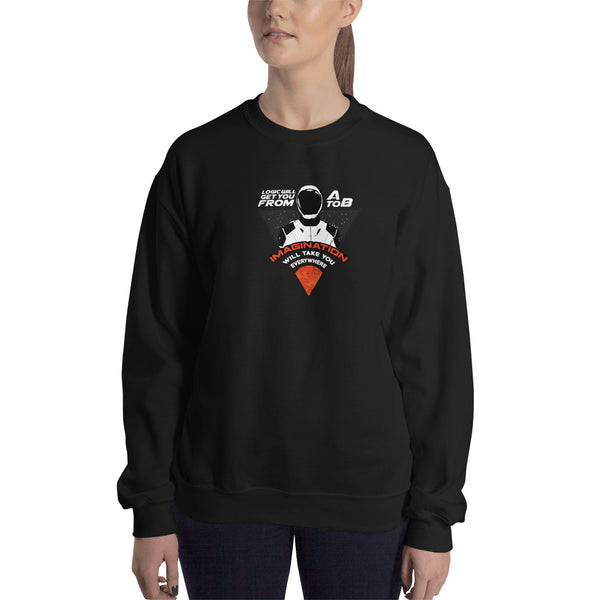 Imagination will take you everywhere - Woman's Crew Neck Sweatshirt