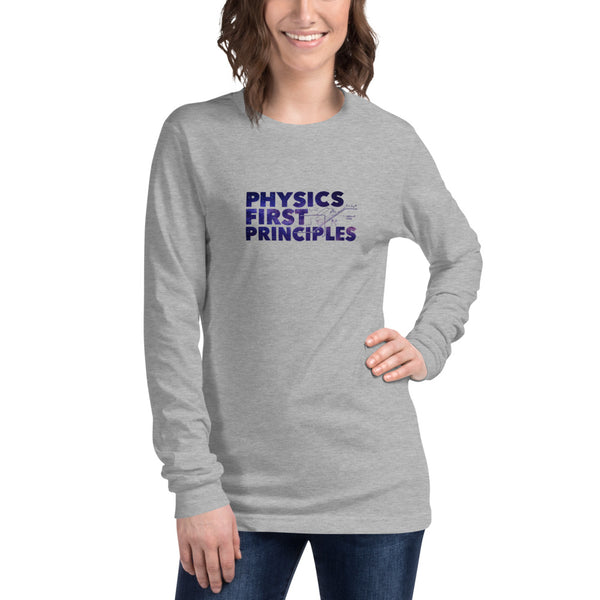 Physics First Principles - Womens Long Sleeve Tee