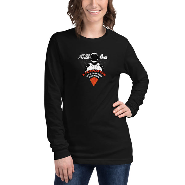 Imagination will take you everywhere - Womens Long Sleeve Tee