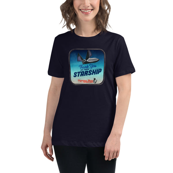 Thank You For Flying Starship - Women's Relaxed T-Shirt