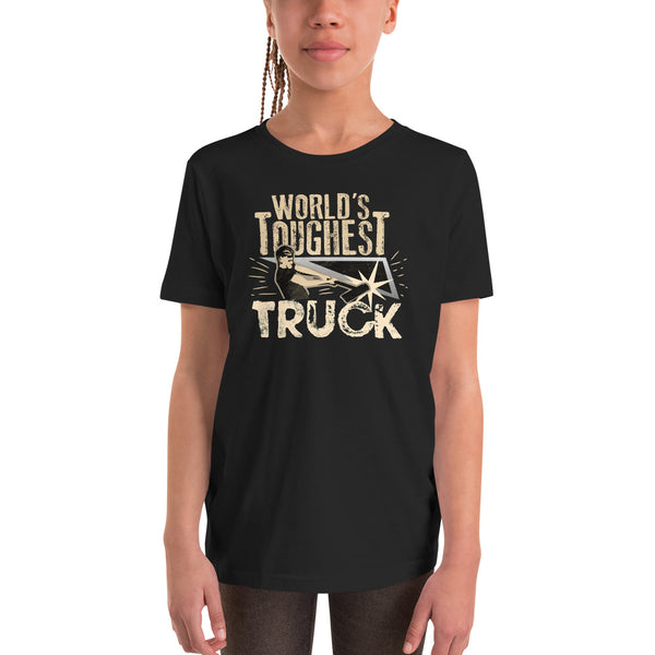 World's Toughest Truck - Youth Short Sleeve T-Shirt