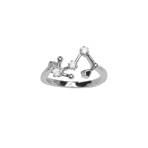 Pure Silver Horoscope Constellation Ring (Scorpio)